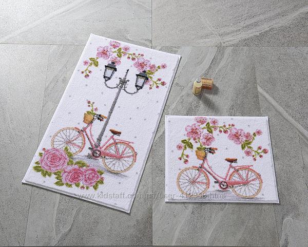 Confetti Коврик для ванной комнаты Romantic Bike pembe 50x57 57х100 80х140