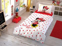 TAC Детское подростковое постельное белье Disney Minnie Mouse Cek Минни Мау