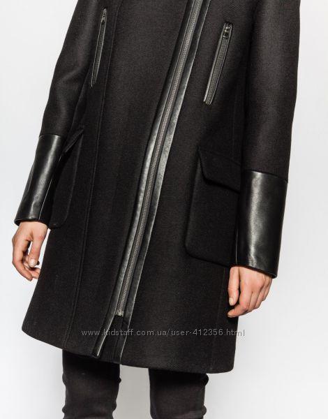 Шерстяное пальто-косуха ZAPA оригинал