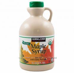 Кленовый сироп - органический Amber Maple Syrup Kirkland Signature