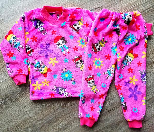 Детская тёплая пижама из рваной махры Lol, Робокоп Полли