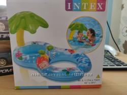 Надувной круг-плотик Островок с навесом Intex 56590
