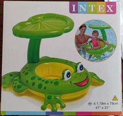 Плотик надувной Intex 56584 Лягушка с ножками и тентом