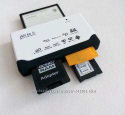 картридер 10 в 1 microSD, SDHC, Olympus, Sony MS duo, CompactFlash, MMC