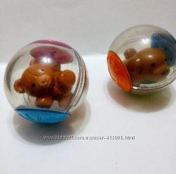 Развивающие шарики Фишер Прайс собака, мишка в хор. состоянии Fisher