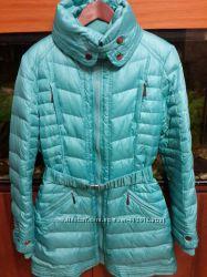 Продам пальто Sela, бирюзового цвета, разм. М, полномерное, внутри спинка