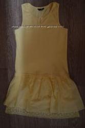 Платье Matalan на 16 лет, рост 152 - 158 см, цвет насыщенный желтый