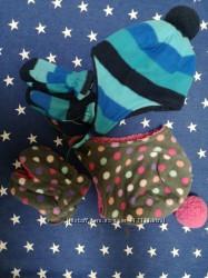 Наборы шапка варежки девочка мальчик
