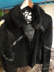 Куртка меховая теплая короткая, натуральный мех, размер М