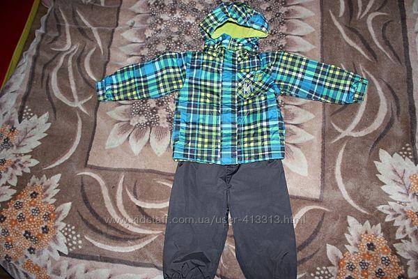 Демисезонный комбинезон куртка штаны Peluche&tartine Пелуче 18 мес.