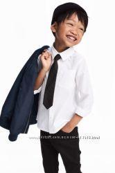Н&M рубашка с галстуком 122-128
