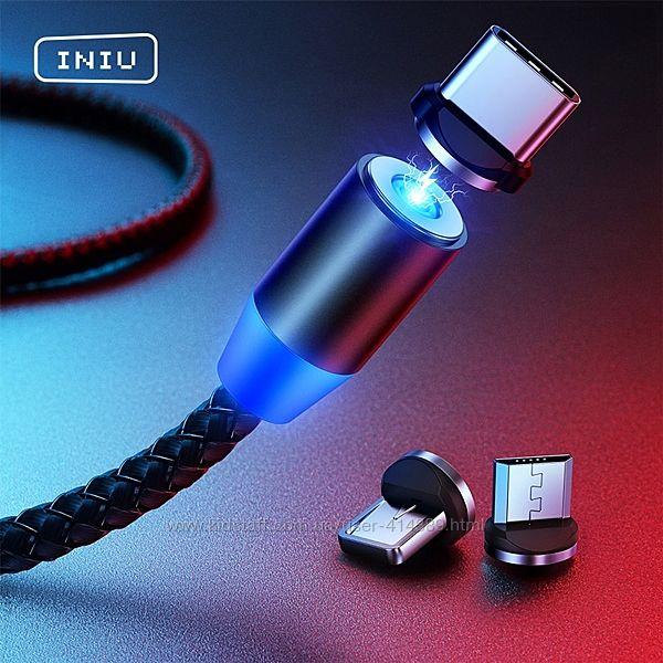 Супер Магнитное зарядное USB и для iPhone с LED подсветкой