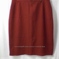 Прямая юбка для статной дамы. шерсть. 54-56 размер