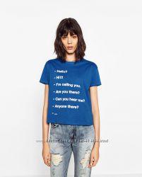 Стильные футболки Zara размер S. Разные модели. Оригинал.