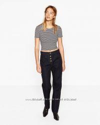Стильная укороченная футболка Zara размер S. Оригинал.