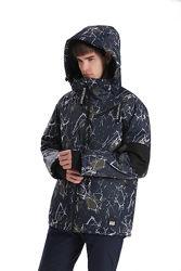 Куртка стильная мембранная мужская зимняя непромокаемая, яркая, лыжная