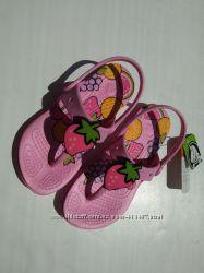 Новые кроксы вьетнамки, оригинал. Розовые, стелька 19 см