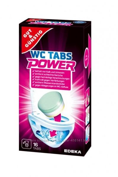 Таблетки для чистки унитаза. Power WC-Tabs Multi-Aktiv 16шт.