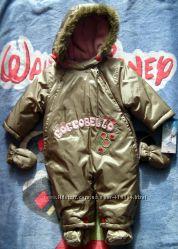 Coccobello серебристый шикарный комбинезон девочке 68см