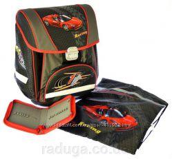 Комплект ранец  сумка для обуви  пенал PREMIUM-A Racing