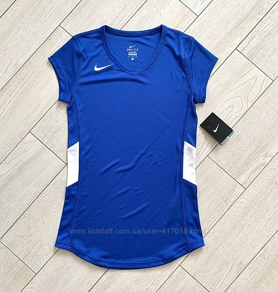Женская спортивная футболка Nike dri-fit оригинал S-M
