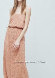 кружевное платье манго р-р л с поясом