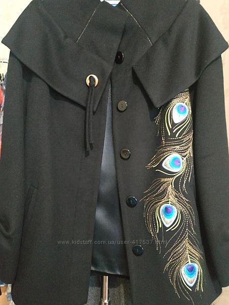 Пальто расло raslov шерсть с вышивкой