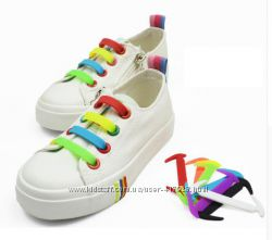 Силиконовые шнурки для детской и взрослой обуви. Ленивые шнурки.