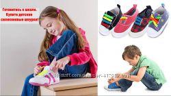 Детские шнурочки. Силиконовые шнурки для детской обуви. Ленивые шнурки.