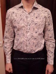 Рубашка Ostin в отличном состоянии M Slim Fit