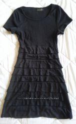 Красивое аккуратное черное платье р. 38 S-М 10, наш 44. По фигуре