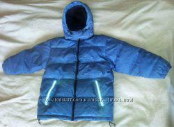 Зимняя теплая стеганая куртка пуховик TCM Tchibo, пух натуральный, р. 140