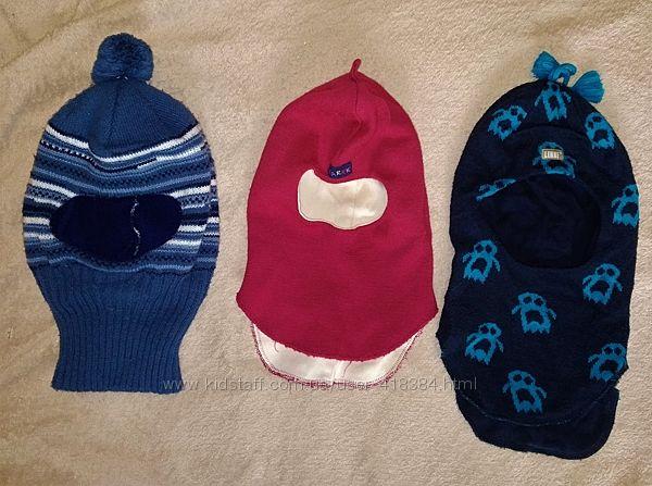 Зимняя шапка шлем Makaro и др. р. 52, на 6-7 лет, на подкладке