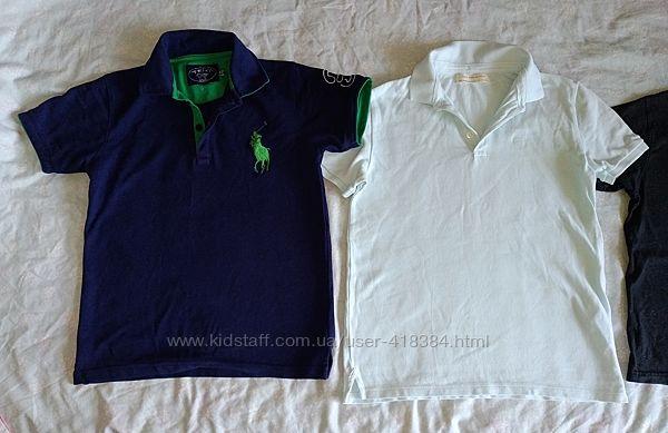 Фирменные футболки поло рубашки с коротким рукавом Zara, Matalan р. 140-146