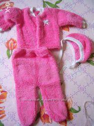 Кофта, штаны и шапка на новорожденного