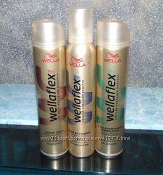 Лак и мусс для волос Wellaflex сильная фиксация Новый