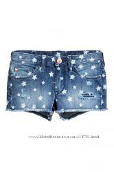 Джинсовые шорты H&M для девочки подростка