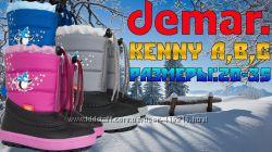Зимние дутики Demar KENNY синие, розовые, серые-летняя акцияр20-35