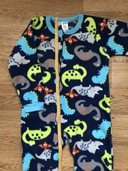 Флис поддева человечки слип пижама