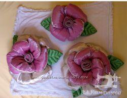 Подушки-розы, набор
