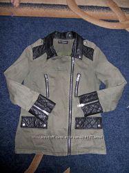 Куртка с кожанными вставками