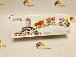 Деревянная игрушка-конструктор Поезд с машинками Cubika