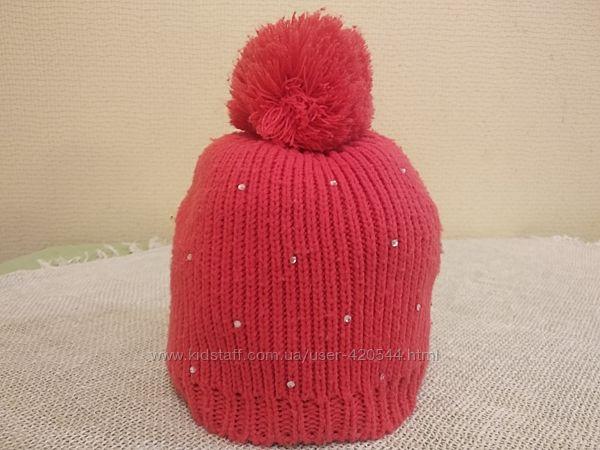 Демисезонная шапка для девочки Reserved на 7-10 лет