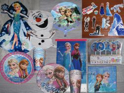 Frozen Холодное сердце посуда атрибутика шары для праздника