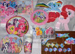 My Little Pony Маленькие Пони посуда атрибутика шары для праздника