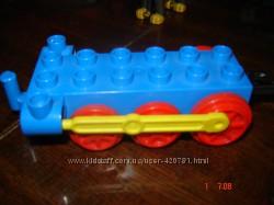 Лего LEGO оригинал паровоз колесная база