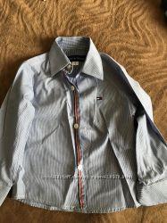 Нарядная фирменная рубашка Tommy Hilfiger 92 cм, одевали 1 раз