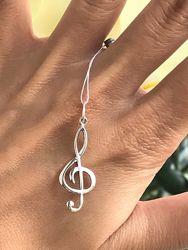 Подвес серебряный Скрипичный ключ 3312