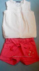 Шортики и блуза фирменные на 4-5лет