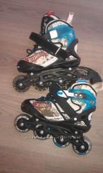 Роликовые коньки Hot Wheels с защитой Hot Wheels. Размер 28-32